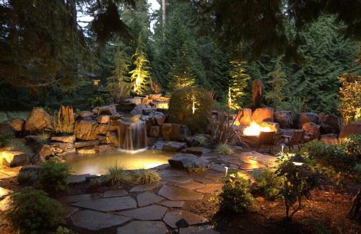 Sfeerverlichting  elementen als decoratieve tuinverlichting